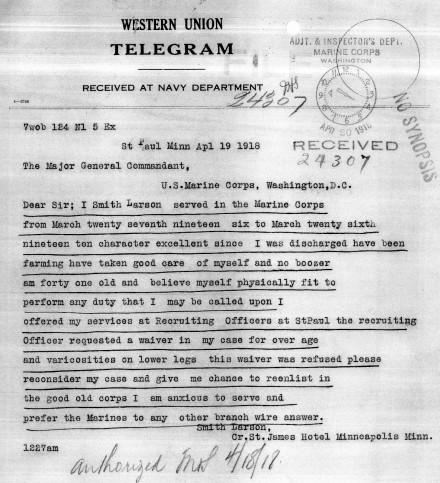 Appeal Telegram 1918