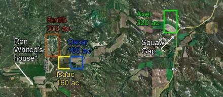 four Larson homesteads
