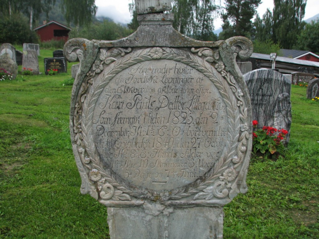 Lillegard headstone