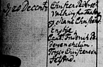 Cristen Pedersen married 1740