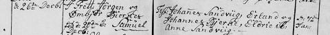 Samuel Jorgensen christened 1815