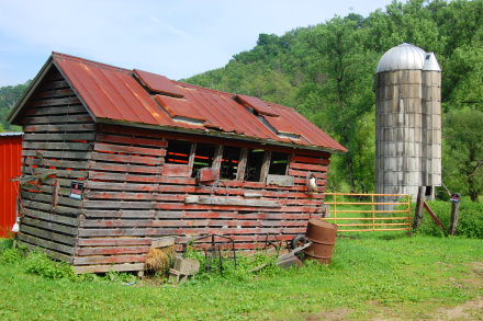 shed and silo