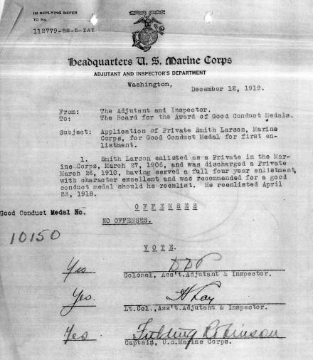 1919 Smith Good Conduct