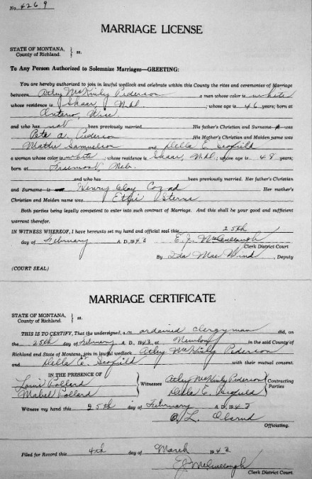 1943 marriage