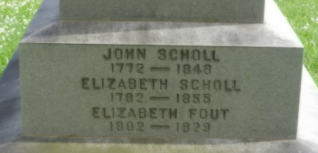 1848 Scholl inscription