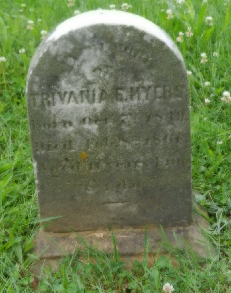 1861 Trivinia Myers stone