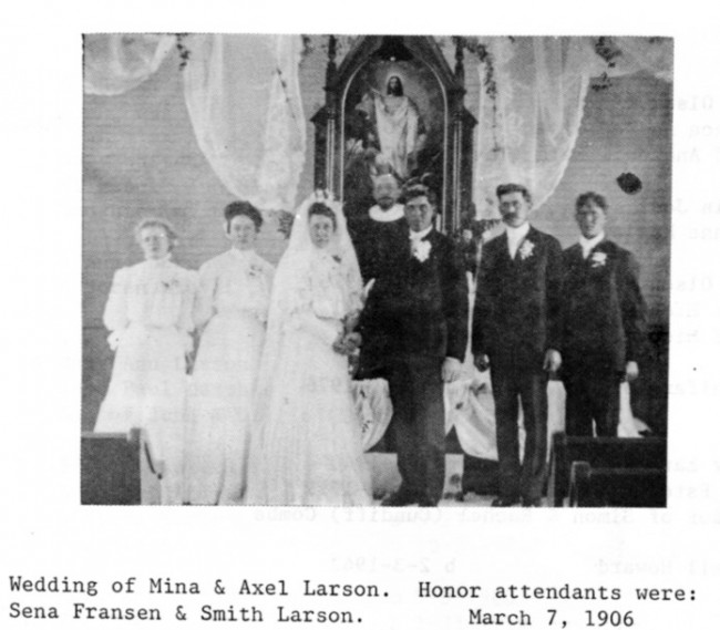 1906 Axel wed with attendants