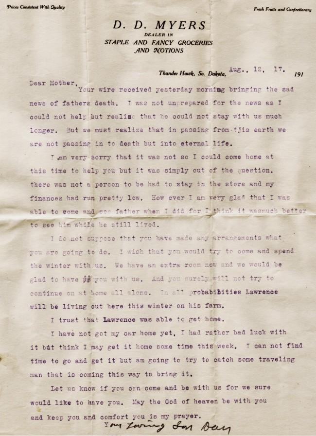 1917 Sympathy Dan to Helen