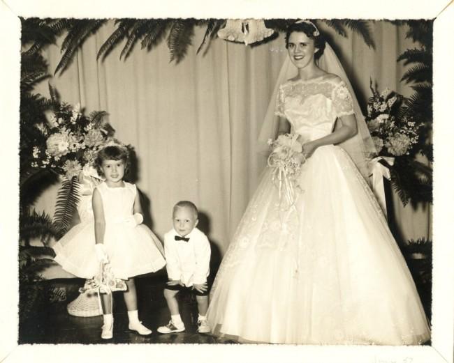 1957 Bon flowergirl1