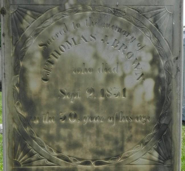 1831 T J Brown stonei