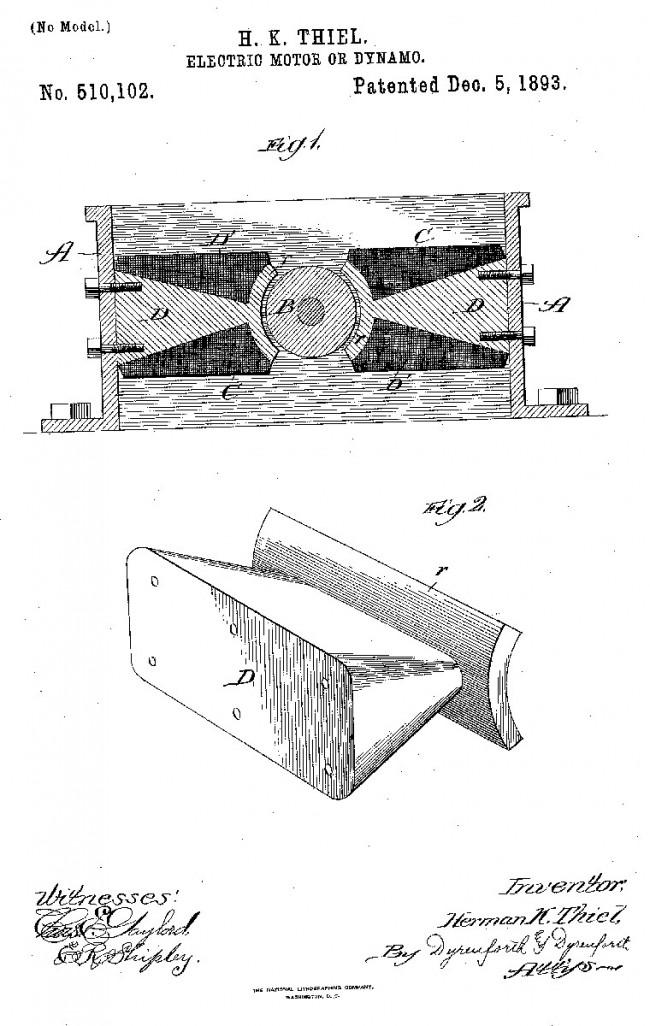 H Thiel patent