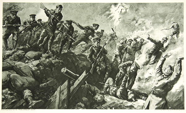 """""""Capture of the German Tranches at Neuve-Chapelle"""" by Charles Mills Sheldon"""