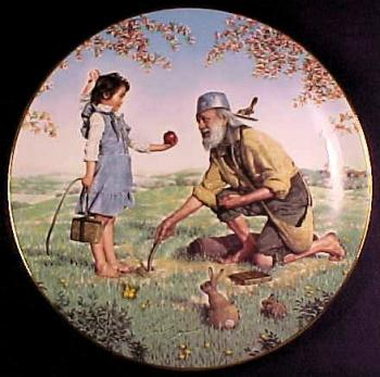 Collector plate depicting Johnny Appleseed