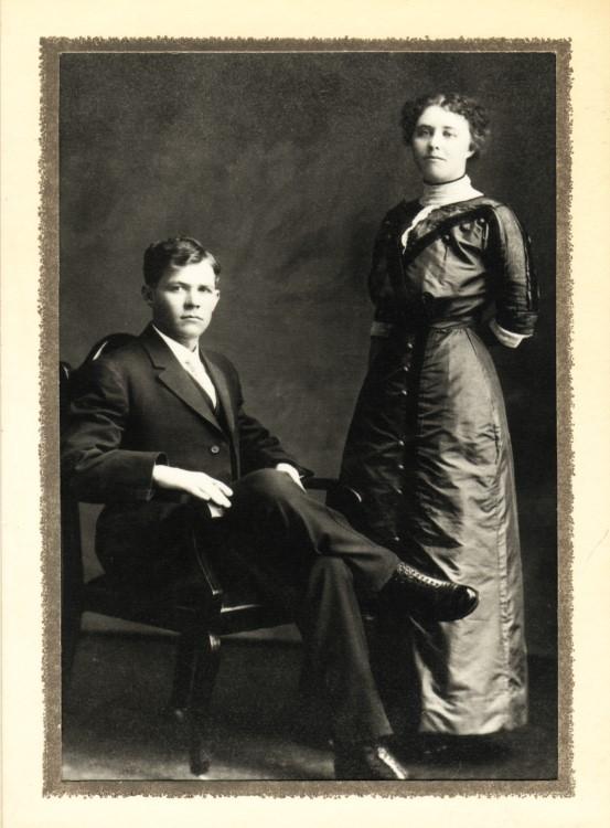 1912 Ike Anna wed2