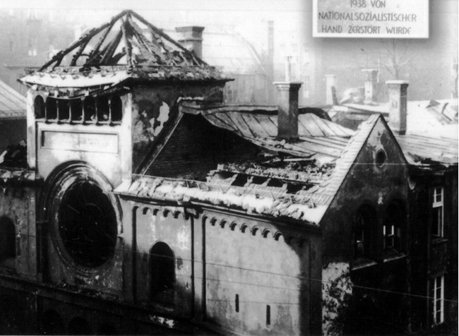 Ruined Ohel Yaakov synagogue in Munich
