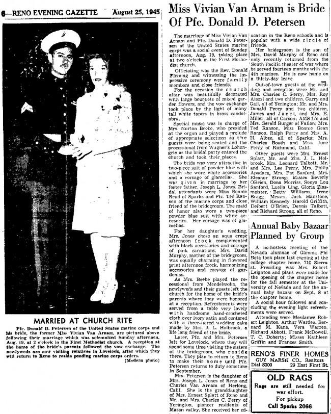 1945 Viv wed