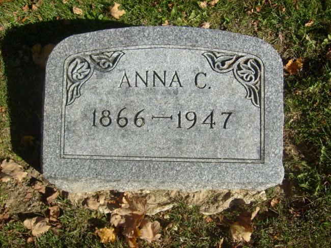 1947 Anna Hanson Erickson stone