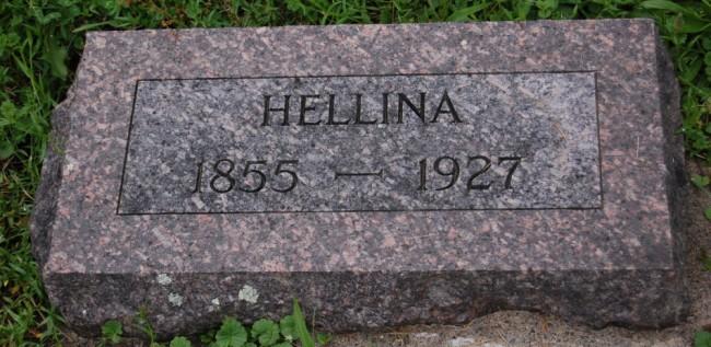 1927 Helline headstone